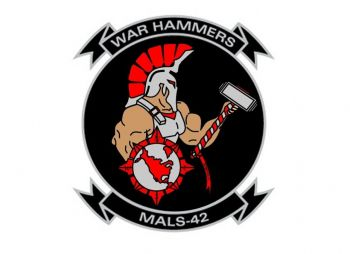 Coat of arms (crest) of the MALS-42 War Hammers, USMC