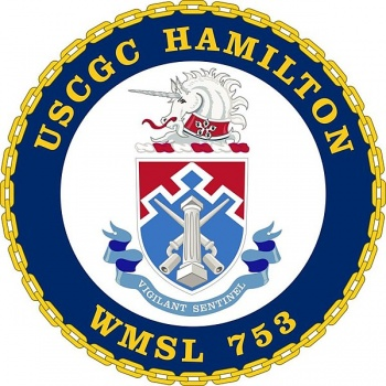 Coat of arms (crest) of the USCGC Hamilton (WMSL-753)