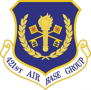 Coat of arms (crest) of the 421st Air Base Group, US Air Force