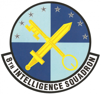 Coat of arms (crest) of the 8th Intelligence Squadron, US Air Force