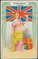 Arms, Flags and Folk Costume trade card Grossbritannien
