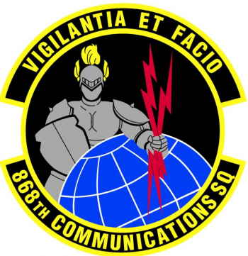 Coat of arms (crest) of the 868th Communications Squadron, US Air Force