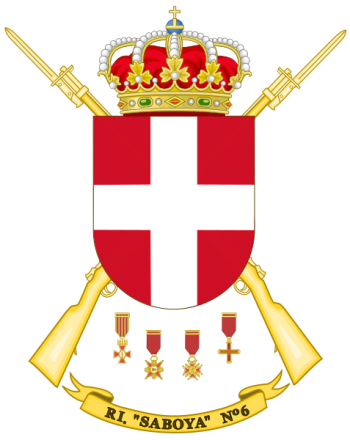 Coat of arms (crest) of the Infantry Regiment Saboya No 6, Spanish Army