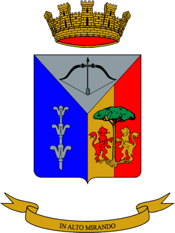 Coat of arms (crest) of the 2nd Anti-Aircraft Artillery Regiment, Italian Army