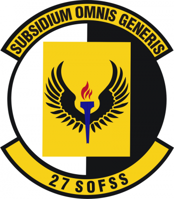Coat of arms (crest) of the 27th Special Operations Force Support Squadron, US Air Force