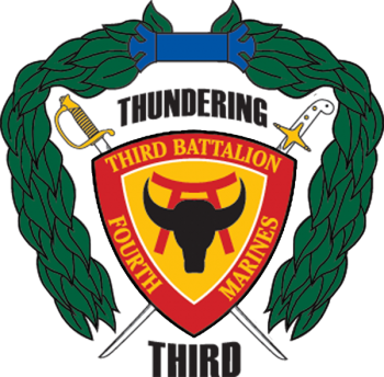 Coat of arms (crest) of the 3rd Battalion, 4th Marines, USMC