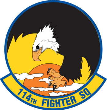 Coat of arms (crest) of the 114th Fighter Squadron, Oregon Air National Guard