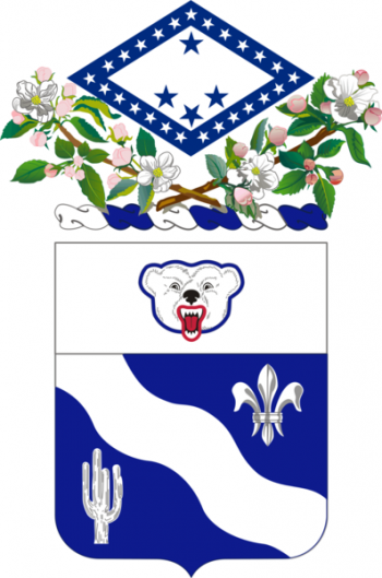 Coat of arms (crest) of the 153rd Infantry Regiment (First Arkansas), Arkansas Army National Guard