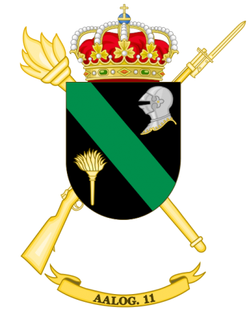 Coat of arms (crest) of the Logistics Support Group 11, Spanish Army