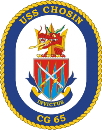 Coat of arms (crest) of the Cruiser USS Chosin