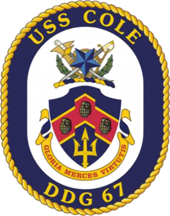 Coat of arms (crest) of the Destroyer USS Cole