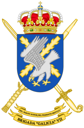 Coat of arms (crest) of the Brigade Galicia VII, Spanish Army