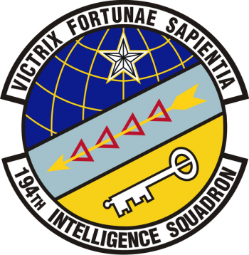Coat of arms (crest) of the 194th Intelligence Squadron, US Air Force