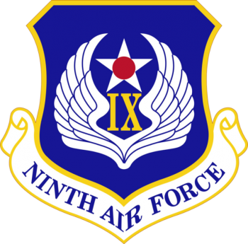 Coat of arms (crest) of the 9th Air Force, US Air Force