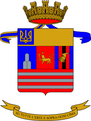 Coat of arms (crest) of the 4th Mountain Artillery Regiment, Italian Army