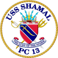 Coastal Patrol Ship USS Shamal (PC-13).png