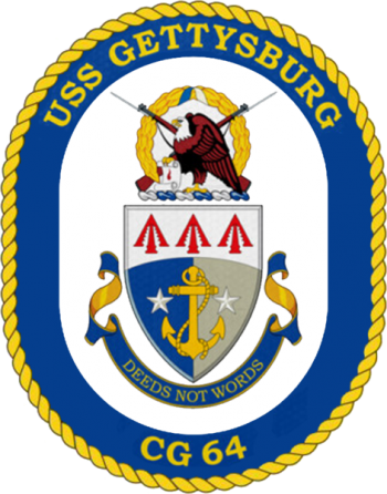 Coat of arms (crest) of the Cruiser USS Gettysburg