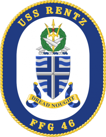 Coat of arms (crest) of the Frigate USS Rentz (FFG-46)