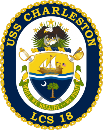 Coat of arms (crest) of the Littoral Combat Ship USS Charleston (LCS-18)