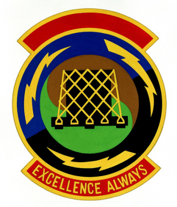 Coat of arms (crest) of the 105th Aerial Port Squadron, US Air Force