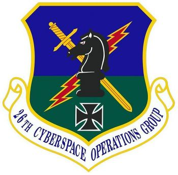 Coat of arms (crest) of the 26th Cyberspace Operations Group, US Air Force
