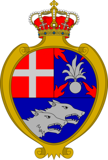 Coat of arms (crest) of the 77th Infantry Regiment Lupi di Toscana, Italian Army