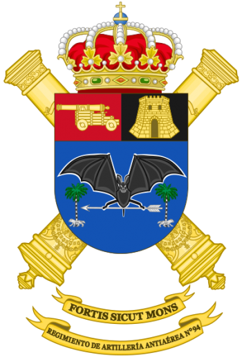 Coat of arms (crest) of the 94th Air Defence Artillery Regiment, Spanish Army