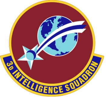 Coat of arms (crest) of the 3rd Intelligence Squadron, US Air Force