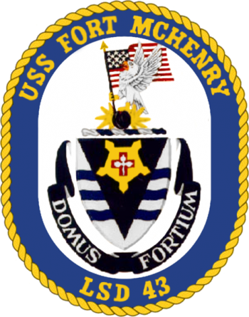 Coat of arms (crest) of the Dock Landing Ship USS Fort McHenry (LSD-43)