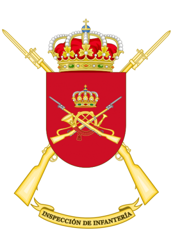Coat of arms (crest) of the Infantry Forces Inspector's Office, Spanish Army
