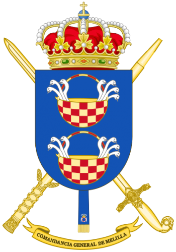 Coat of arms (crest) of the Melilla General Command, Spanish Army