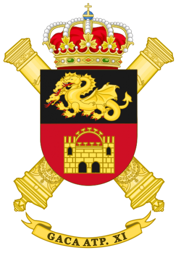 Coat of arms (crest) of the Selfpropelled Field Artillery Group XI, Spanish Army