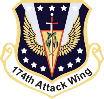 Coat of arms (crest) of the 174th Attack Wing, New York Air National Guard