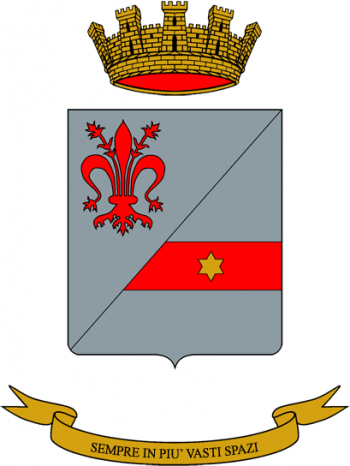 Coat of arms (crest) of the 2nd Signal Regiment, Italian Army