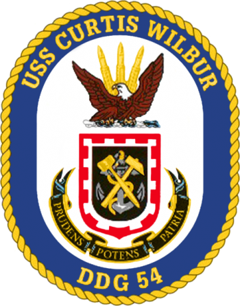 Coat of arms (crest) of the Destroyer USS Curtis Wilbur