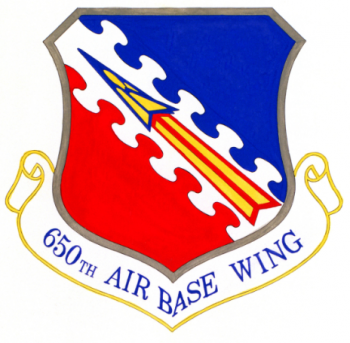 Coat of arms (crest) of the 650th Air Base Wing, US Air Force