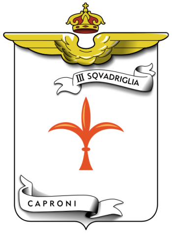 Coat of arms (crest) of the III Caproni Squadron, Regia Aeronautica