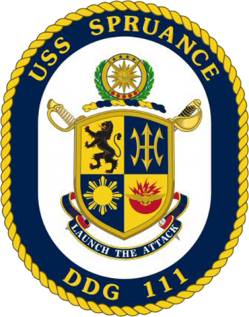 Coat of arms (crest) of the Destroyer USS Spruance (DDG-111)