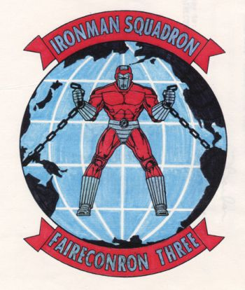 Coat of arms (crest) of the Feet Air Reconnaissance Squadron 3 (VQ-3) Ironman, US Navy
