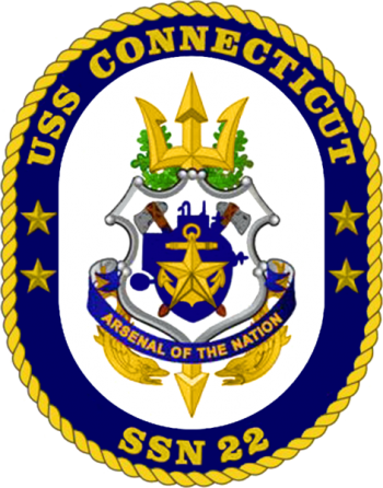 Coat of arms (crest) of the Submarine USS Connecticut (SSN-22)