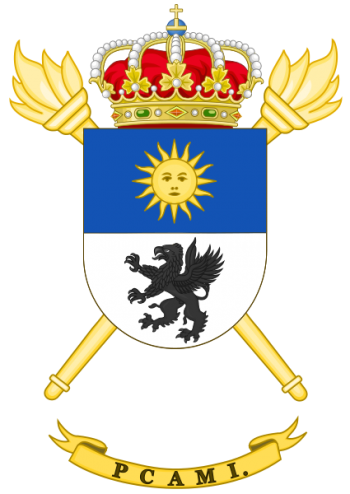 Coat of arms (crest) of the Logistics Material Supplying Park and Center, Spanish Army