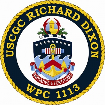 Coat of arms (crest) of the USCGC Richard Dixon (WPC-1113)