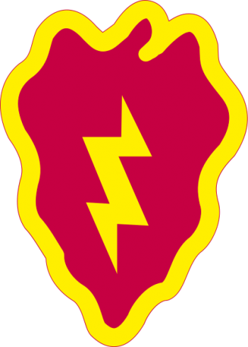 Arms of 25th Infantry Division Tropic Lightning, US Army