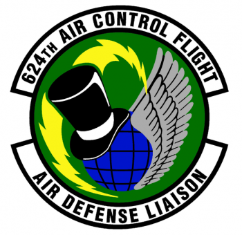 Coat of arms (crest) of the 624th Air Control Flight, US Air Force