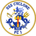 Coastal Patrol Ship USS Cyclone (PC-1).png