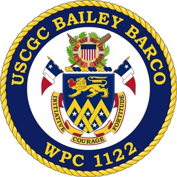 Coat of arms (crest) of the USCGC Bailey Barco (WPC-1122)
