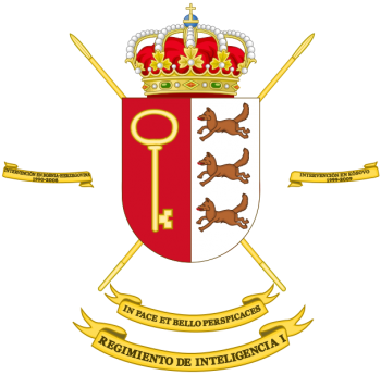 Coat of arms (crest) of the Intelligence Regiment No 1, Spanish Army