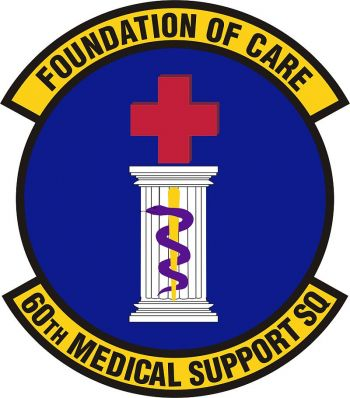 Coat of arms (crest) of the 60th Medical Support Squadron, US Air Force