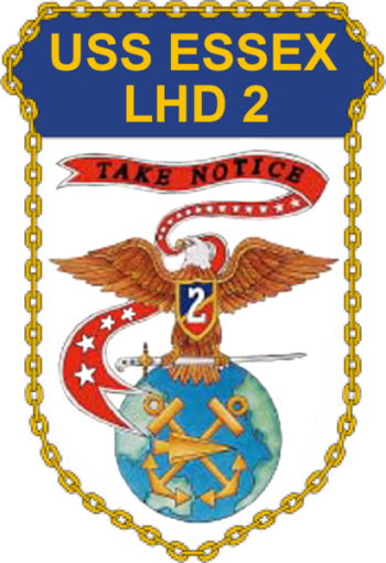 Coat of arms (crest) of the Landing Helicopter Dock USS Essex (LHD-2)