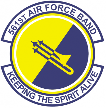 Coat of arms (crest) of the 561st Air Force Band, California Air National Guard